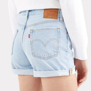 Levi's 501 Jean Shorts Button Fly Light Wash